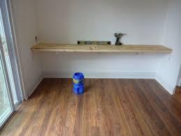 wall mounted desk floating corner desk