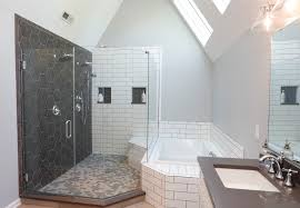 the footprint of the traditional shower is expanding in part because many new bathroom designs are void of a tub which leaves more room for a grand size