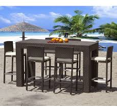 high outdoor dining chair. source outdoor high dining all weather wicker bar height set - patio sets at hayneedle chair