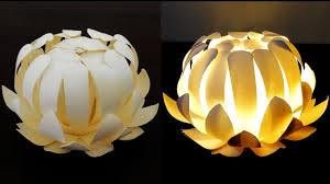 Dixie Cup Lights Paper Cup Flower Lamp How To Make A Protea Lantern From Paper Cups Ezycraft