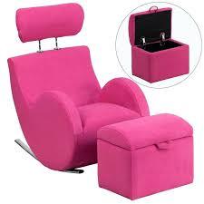 kids fabric pink rocker gaming chair 1 w storage ottoman seat game