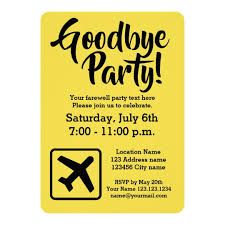 Farewell Invites For Colleagues Goodbye Farewell Going Away Party Invitations
