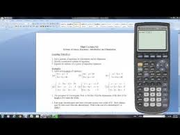 graphing calculator linear equations