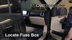 interior fuse box location 2015 2016 ford f 150 2015 ford f 150 F150 Fuse Box locate interior fuse box and remove cover f150 fuse box diagram