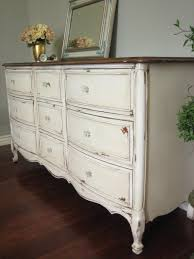 SOLD ~ Solid wood dresser in an antiqued creamy white with a glazed  chippy. Furniture StylesFurniture RedoAntique ...