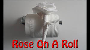 Toilet Paper Origami Flower Instructions Origami Rose With Toilet Paper Made Easy Youtube
