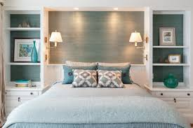 Traditional Blue Bedroom Designs For Decoration Blue Cream