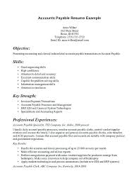 Accounts Receivable Resume Samples Accounts Payable Resume Example Simple Account Receivable Resume