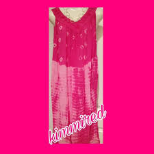 pink white. Pink/White Sheer Lounge Dress/Cover-Up ~ Free Size Pink White