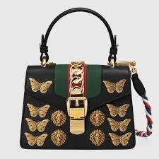 gucci uk. gucci black animal studs sylvie mini bag uk g