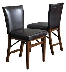 folding dining chairs brown leather folding dining chairs set of 2 folding dining table and chairs argos