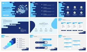 Blue Power Point Templates Blue Business Report Free Google Slides Theme And