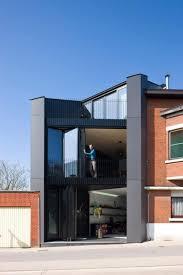 modern office exterior. Narrow House Design Black Color Ideas Modern Office Exterior In Area Home