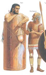 the greek achaean characters great ajax nestor from homer s  two heroes characters of the trojan war great ajax nestor by peter connolly troy the iliad of homer shield of ajax the ancient of odysseus