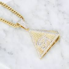 All our gold chains and pieces are made from 14k or 18k solid gold, with retro rose gold and cool white gold options available. Iced Out Gold Pendant Designs Men Gold Mens Hip Hop Pyramids Pendant Buy Gold Pendant Designs Men Hip Hop Pendant Iced Out Pendant Product On Alibaba Com