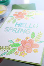 Spring Photo Cards Foil Quill Spring Card We R Memory Keepers Blog