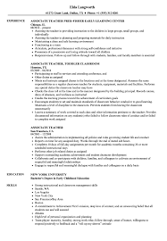 Associate Teacher Resume Samples | Velvet Jobs