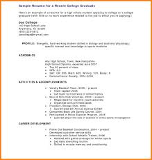 Resume Template High School Student 100 college resume templates for high school students graphicresume 84
