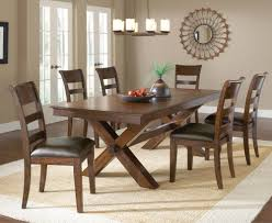 Hillsdale Dining Table Hillsdale Park Avenue Trestle Dining Table W Leaf In Dark Cherry