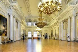 field marshall room at the winter palace in st petersburg russia