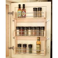 Rev-A-Shelf 21.5 in. H x 10.5 in. W x 3.12 in. D Small Cabinet Door Mount  Wood 3-Shelf Spice Rack-4SR-15 - The Home Depot