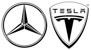 mercedes logo black and white. mercedes tesla logo black and white