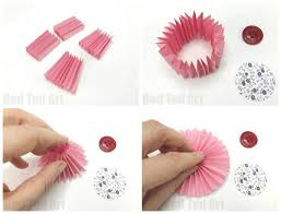 Make Easy Paper Flower How To Make Paper Flowers Step By Step With Pictures Red