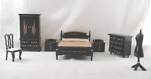 dollhouse furniture 1 12 scale. Brilliant Dollhouse Image Is Loading BEDROOMSETJapaneseBlackLacquerdollhousefurniture1 Inside Dollhouse Furniture 1 12 Scale I