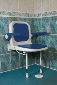 wall mounted shower seat with padded