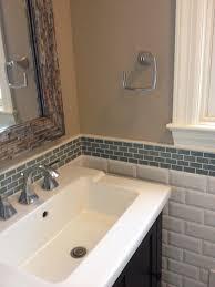 special glass tile backsplash in bathroom awesome design ideas 4091 with innovative bathroom vanity backsplash ideas