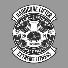 Premium Vector | <b>Hardcore lifter</b> badge