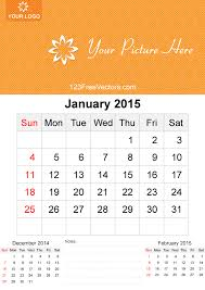 January 2015 Calendar Template January 2015 Calendar Template Vector Free