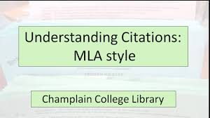 Understanding Citations Mla Style
