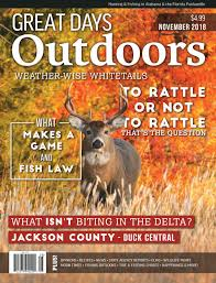 Whitetail Deer Feeding Chart Great Days Outdoors November 2018 By Trendsouth Media Issuu