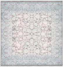8 x 8 new vintage square rug