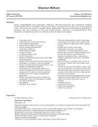 Resume Template Veterinary Technician Resume For Study