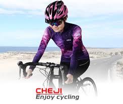 <b>CHEJI Women's</b> Long Sleeve <b>Bike</b> Set Quick dry Starry Sky Pattern ...