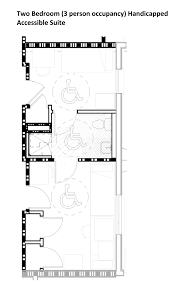 Patton Hall Housing - Handicap accessible bathroom floor plans