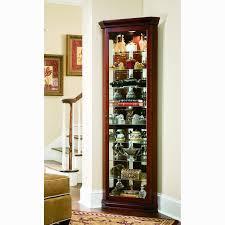 Jasper Curio Cabinet Victorian Cherry Corner Curio Cabinet Curio Cabinet Brown
