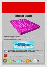 Mattress Density Chart Kurl On Kurlo Bond 5 Inch King Size Coir Mattress 75x72x5