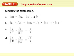 4 5 solve quadratic equations by finding square roots 2 example