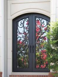 perfect exterior iron entry doors for home wrought iron doors kings building material minimalist and wrought exterior r