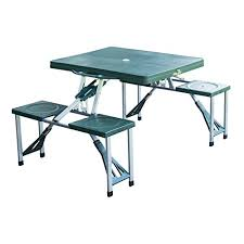 aluminum picnic tables. New Outdoor Portable Folding Aluminum Picnic Table 4 Seats Chairs Camping W/Case By Totoshop Tables