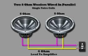 8 ohm subwoofer wiring 8 image wiring diagram wiring 3 8 ohm speakers in series wiring auto wiring diagram on 8 ohm subwoofer wiring