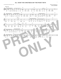 all i want for christmas is my two front teeth sheet music sheet music digital files to print licensed don gardner digital