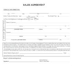 Automobile Sales Agreement Vehicle Purchase Agreement Template Private Party Car Sale