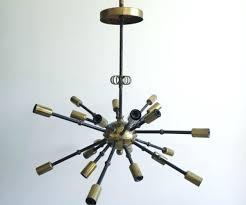 black sputnik chandelier vintage inspired light brass and gold to sput home improvement