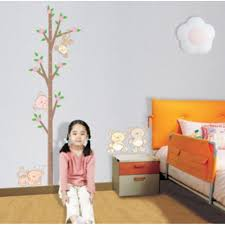 tree and bears growth chart wall sticker