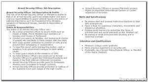Security Guard Job Description For Resume Security Guard Job Duties For 100 Essay Topics 36