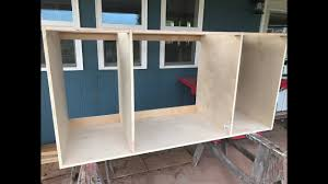 Making Kitchen Cabinets Part 1 Carcass Youtube